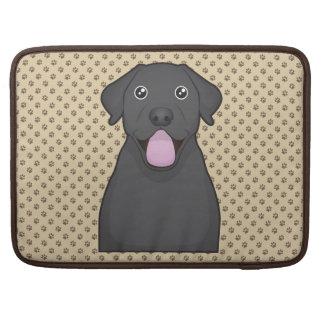 Black Labrador Retriever Cartoon Sleeve For MacBook Pro