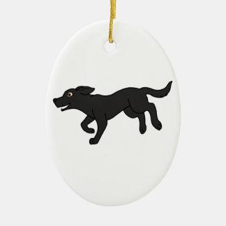Black Labrador Retriever Ceramic Ornament