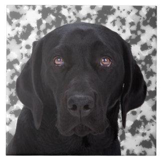 Black Labrador Retriever Ceramic Tile