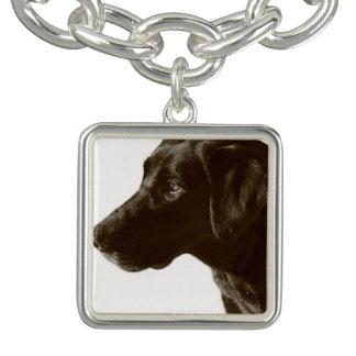 Black Labrador Retriever Charm Bracelet