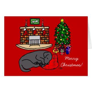 Black Labrador Retriever Christmas Cards
