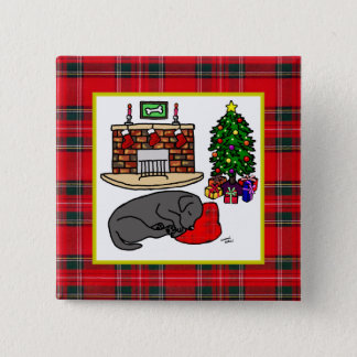 Black Labrador Retriever Christmas Pins