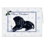 Black Labrador Retriever Christmas Snowflake Cards