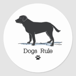 Black Labrador Retriever Classic Round Sticker