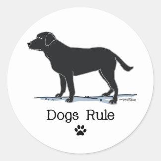 Black Labrador Retriever Classic Round Sticker