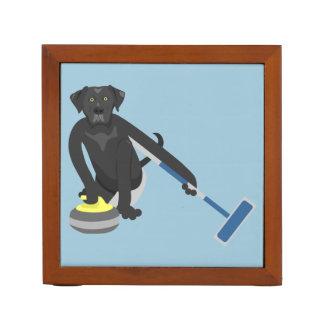 Black Labrador Retriever Curling Desk Organizers