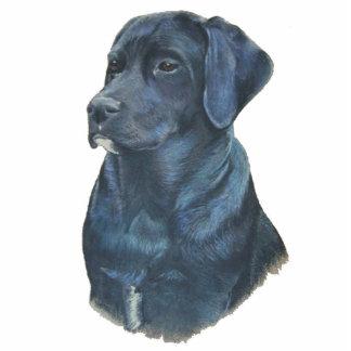 black labrador retriever dog art sculpture pin