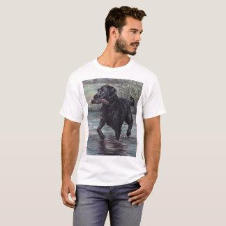 Black Labrador Retriever Dog Art T-shirt