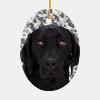 Black Labrador Retriever dog Ceramic Ornament