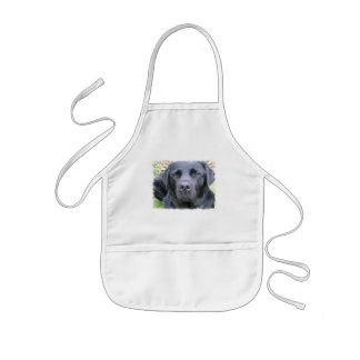 Black Labrador Retriever Dog Children's Smock Kids' Apron