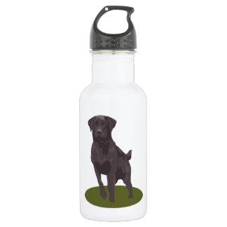 Black Labrador Retriever Dog 18oz Water Bottle