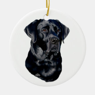 Black Labrador Retriever head ornament