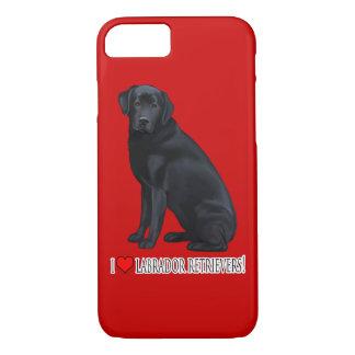 Black Labrador Retriever iPhone 8/7 Case