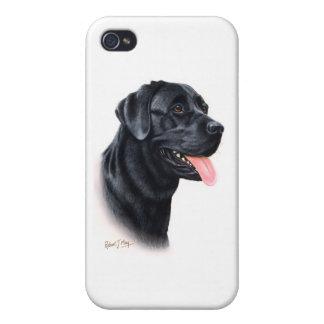 Black Labrador Retriever iPhone 4 Case