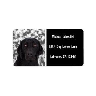 Black Labrador Retriever Labels