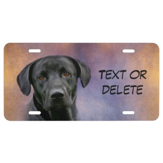 Black Labrador Retriever License Plate