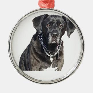 Black Labrador Retriever Metal Ornament