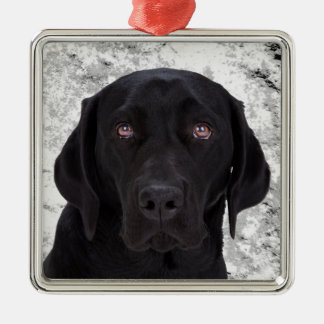 Black Labrador Retriever Metal Ornament