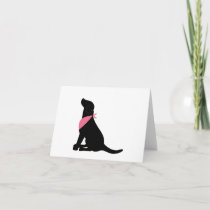 Black Labrador Retriever notecards