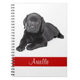 Black Labrador Retriever Personalized Notebook