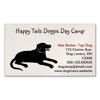Black Labrador Retriever | Pet Care Business Card Magnet
