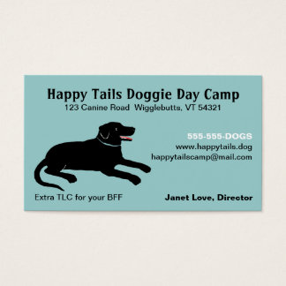 Black Labrador Retriever Pet Care Business Cards