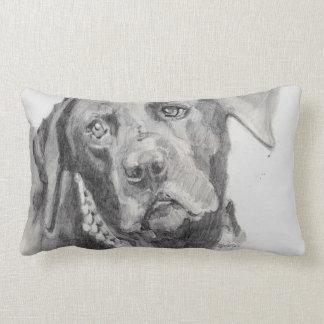 Black Labrador Retriever Pillow