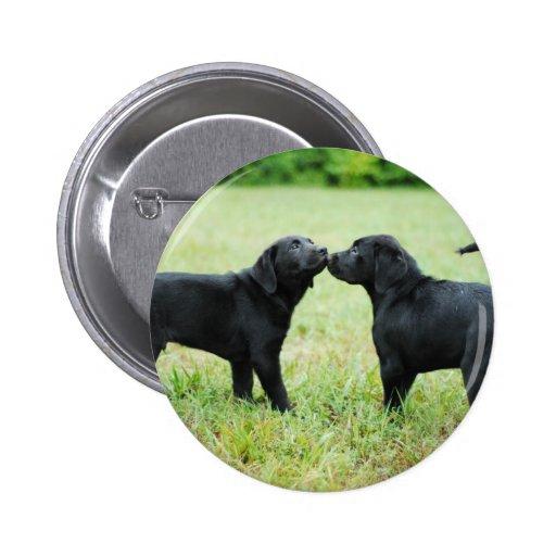 Black Labrador Retriever Pinback Button