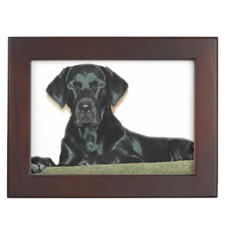 Black Labrador Retriever Keepsake Boxes