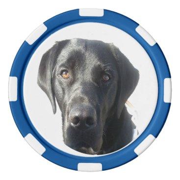 Wedding Themed Black Labrador Retriever Poker Chip