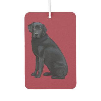 Black Labrador Retriever Portrait Car Air Freshener