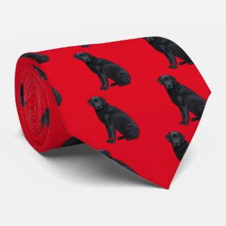 Black Labrador Retriever Portrait Tie