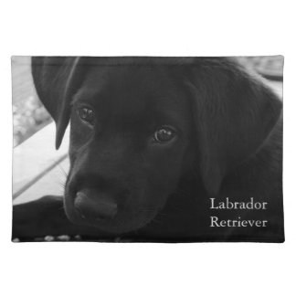 Black Labrador Retriever Pup Cloth Placemat