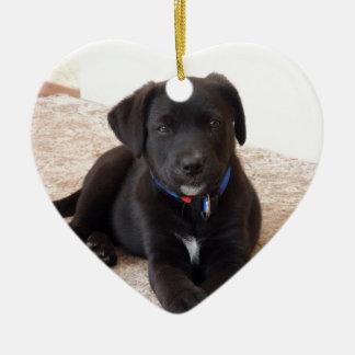 Black Labrador Retriever Puppy Ceramic Ornament