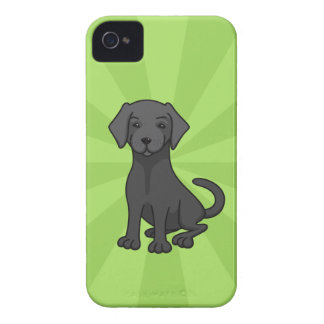 Black labrador retriever puppy dog cartoon, green iPhone 4 cover