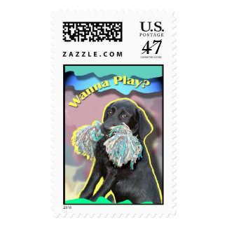 Black Labrador Retriever Puppy Postage