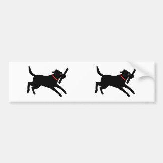Black Labrador Retriever Running Bumper Sticker