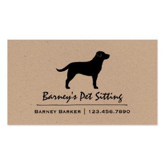 Black Labrador Retriever Silhouette Business Card