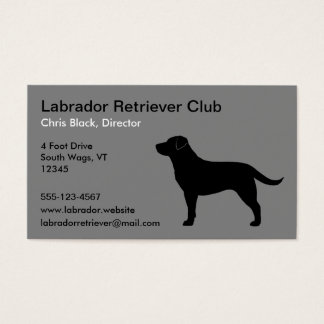 Black Labrador Retriever Silhouette Business Card