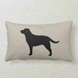 Black Labrador Retriever Silhouette Lumbar Pillow