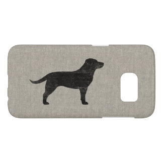 Black Labrador Retriever Silhouette Samsung Galaxy S7 Case