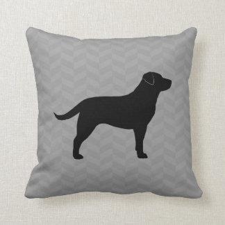 Black Labrador Retriever Silhouette Throw Pillow