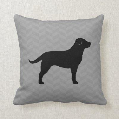 black labrador retriever silhouette lumbar pillow zazzlecom