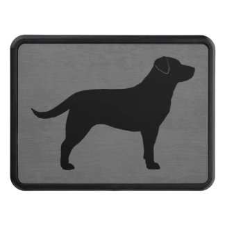 Black Labrador Retriever Silhouette Trailer Hitch Cover