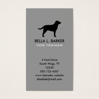 Black Labrador Retriever Silhouette Vertical Business Card