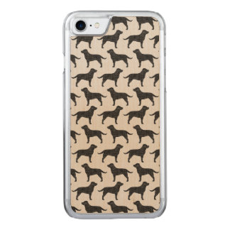 Black Labrador Retriever Silhouettes Pattern Carved iPhone 7 Case