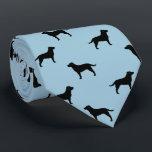 """Black Labrador Retriever Silhouettes Pattern Neck Tie<br><div class=""""desc""""></div>"""