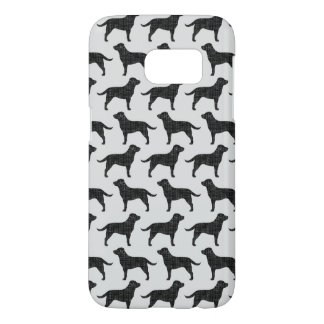 Black Labrador Retriever Silhouettes Pattern Samsung Galaxy S7 Case