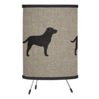 Black Labrador Retriever Silhouettes Tripod Lamp