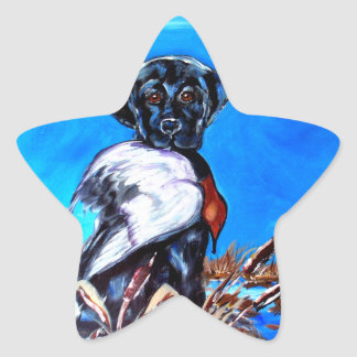 BLACK LABRADOR RETRIEVER STAR STICKER